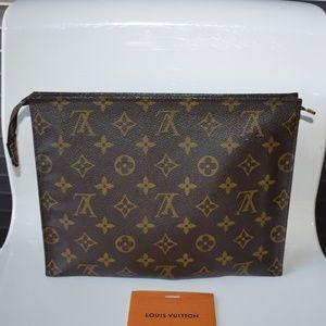 Louis Vuitton Monogram Toiletry Pouch Pochette 26